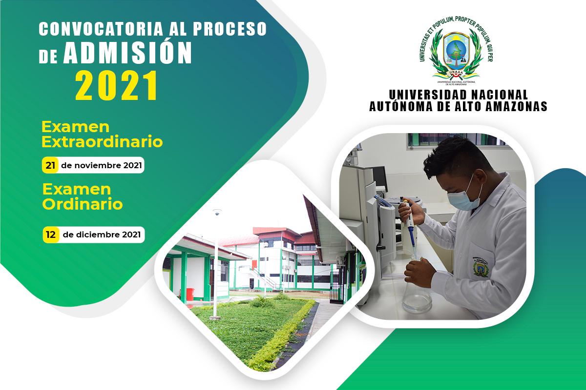 PROCESO DE EXAMEN DE ADMISIÓN 2021